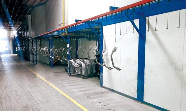 Leading level powder coating line