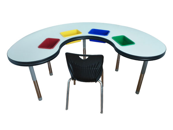 Combination table and chair